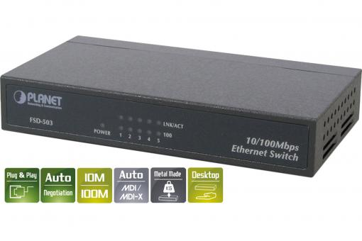 PLANET Fast Ethernet 5-Port Switch