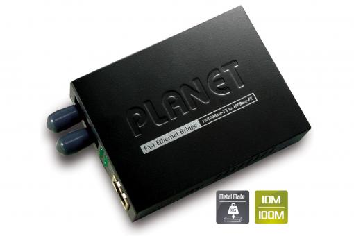 Fast Ethernet Medienkonverter, RJ45 / ST