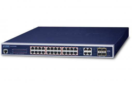 24-Port  802.3at PoE + 4-Port Gigabit TP/SFP Combo Managed Switch