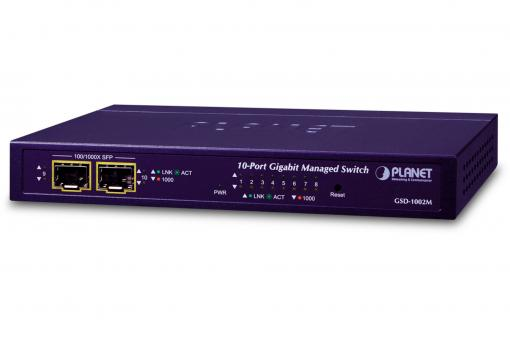8-Port 10/100/1000Mbps + 2-Port 100/1000X SFP Managed Desktop Switch