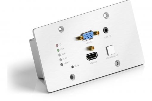 Multi Format EU Wall Plate HDBaseT Transmitter