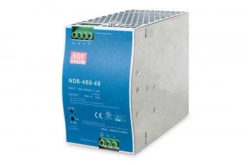 480W 48V DC Single Output Industrial DIN Rail Power Supply