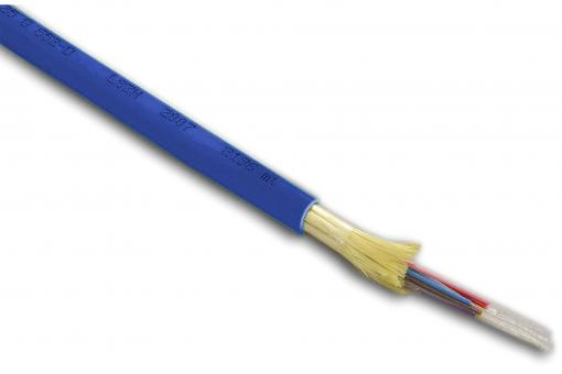 Fiber Optic Installation Cable, OM4, 4 Fibers, Indoor/Outdoor, Multimode