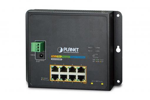 Industrial 8-Port Gigabit PoE Switch, Layer 2, Managed, 2 Uplinks